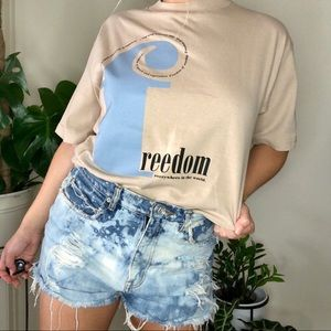 Vintage 90's FDR Freedom Speech Tee